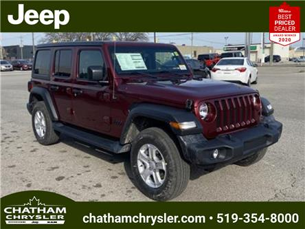 2021 Jeep Wrangler Unlimited Sport (Stk: N05040) in Chatham - Image 1 of 18