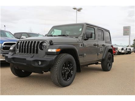2021 Jeep Wrangler Unlimited Sport (Stk: MT080) in Rocky Mountain House - Image 1 of 30
