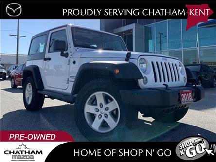 2018 Jeep Wrangler JK Sport (Stk: UM2595A) in Chatham - Image 1 of 19
