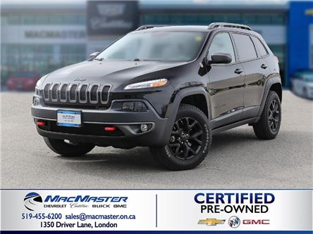 2018 Jeep Cherokee Trailhawk (Stk: 210411A) in London - Image 1 of 10