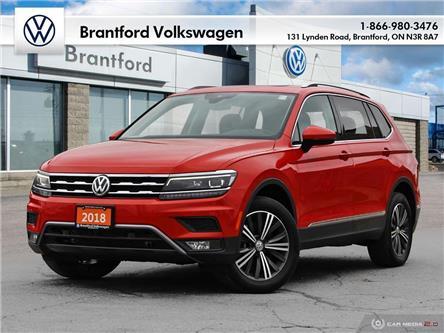 2018 Volkswagen Tiguan Highline (Stk: P70621) in Brantford - Image 1 of 27
