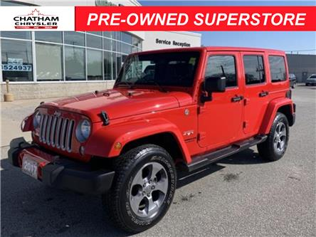2017 Jeep Wrangler Unlimited Sahara (Stk: U04826) in Chatham - Image 1 of 21