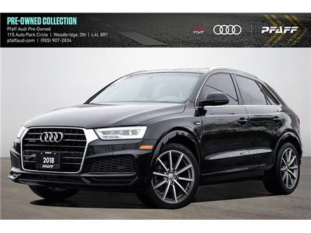 2018 Audi Q3 2.0T Technik (Stk: C8327) in Vaughan - Image 1 of 23