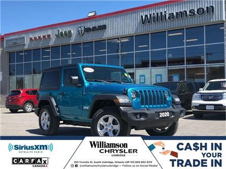 2020 Jeep Wrangler Sport (Stk: W6731) in Uxbridge - Image 1 of 20
