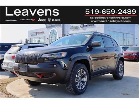 2021 Jeep Cherokee Trailhawk (Stk: LC21221) in London - Image 1 of 33