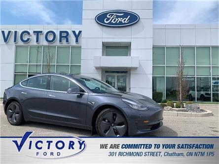 2020 Tesla Model 3 Long Range (Stk: V10484) in Chatham - Image 1 of 28