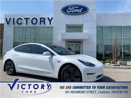 2020 Tesla Model 3 Long Range (Stk: V6538) in Chatham - Image 1 of 29