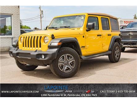 2020 Jeep Wrangler Unlimited Sport (Stk: P3713) in Pembroke - Image 1 of 30