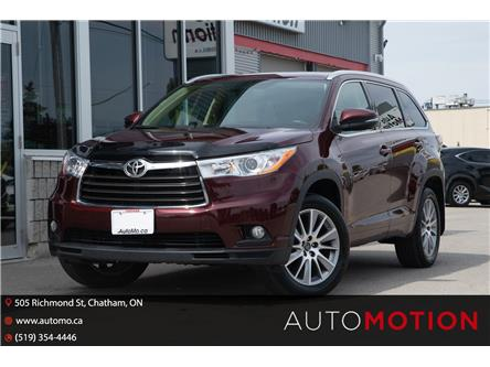 2016 Toyota Highlander  (Stk: 21991) in Chatham - Image 1 of 26