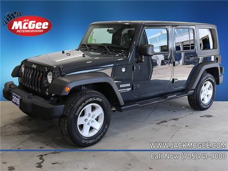2018 Jeep Wrangler JK Unlimited Sport (Stk: 21502A) in Peterborough - Image 1 of 21
