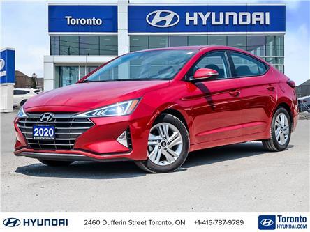 2020 Hyundai Elantra Preferred w/Sun & Safety Package (Stk: U07176) in Toronto - Image 1 of 30