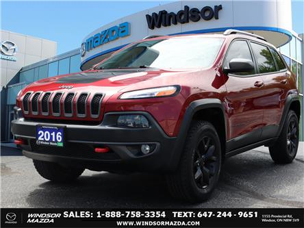 2016 Jeep Cherokee Trailhawk (Stk: TR85881) in Windsor - Image 1 of 24
