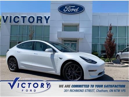 2020 Tesla Model 3 Standard Range (Stk: V10487) in Chatham - Image 1 of 28
