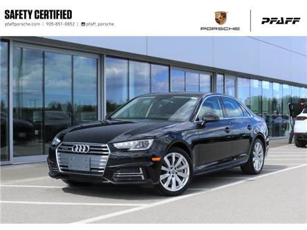 2018 Audi A4 2.0T Komfort quattro 7sp S tronic (Stk: U9633B) in Vaughan - Image 1 of 30