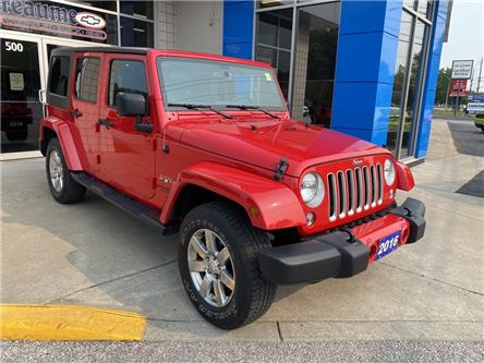 2016 Jeep Wrangler Unlimited Sahara (Stk: 21-0566A) in LaSalle - Image 1 of 19