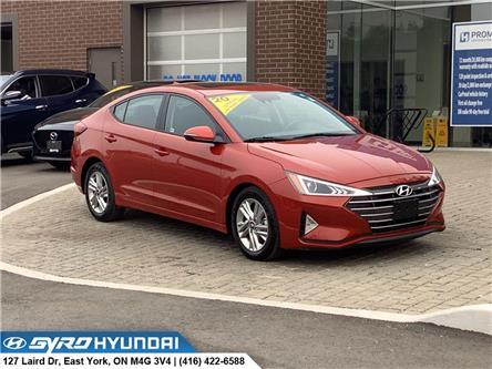 2020 Hyundai Elantra Preferred w/Sun & Safety Package (Stk: H5725A) in Toronto - Image 1 of 29