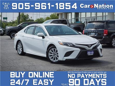 2019 Toyota Camry LE| LEATHER-TRIMMED SEATS| LOCAL TRADE| (Stk: P3379A) in Burlington - Image 1 of 35