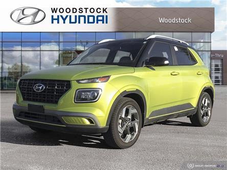 2020 Hyundai Venue Trend w/Urban PKG - Grey-Lime Interior (IVT) (Stk: TN22003A) in Woodstock - Image 1 of 25