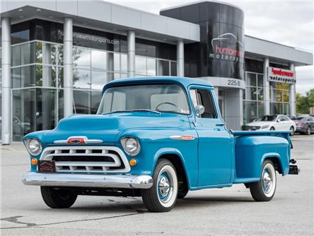 1957 Chevrolet 3200 LONG BED|3 SPEED MANUAL|LEATHER|CHROME BUMPERS (Stk: 21HMS1067) in Mississauga - Image 1 of 32