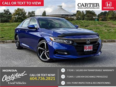 2019 Honda Accord Sport 1.5T (Stk: 2M02861) in Vancouver - Image 1 of 22