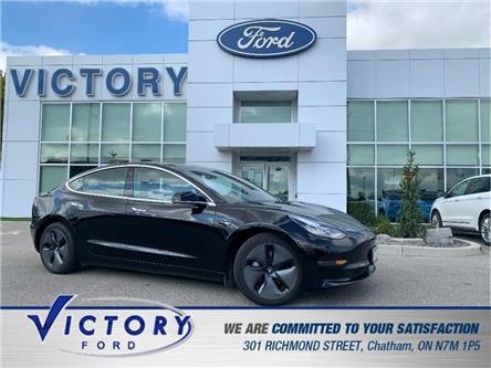 2018 Tesla Model 3 Mid Range | AUTOPILOT | NAV | GLASS ROOF (Stk: V6395A) in Chatham - Image 1 of 21