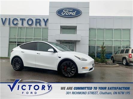 2021 Tesla Model Y Performance (Stk: V9559) in Chatham - Image 1 of 24