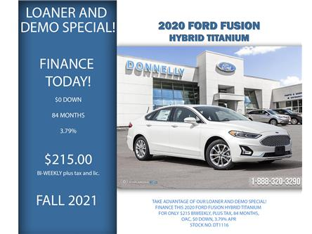 2020 Ford Fusion Hybrid Titanium (Stk: DT1116) in Ottawa - Image 1 of 23