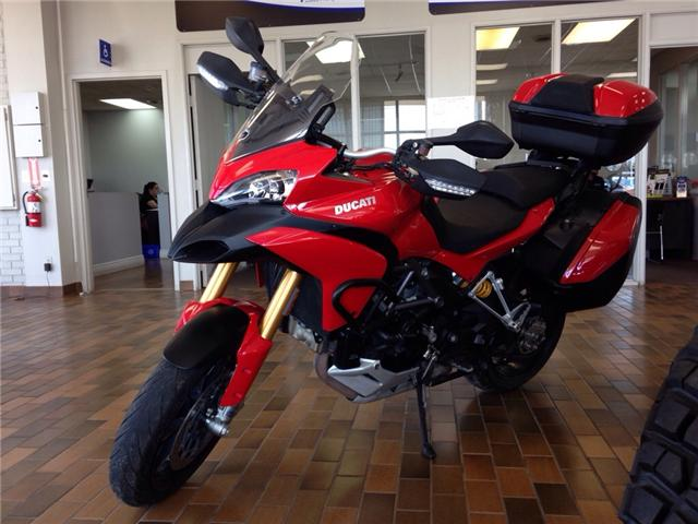 2012 Ducati MULITSTRADA 1200S- 150 HP! ALL ORIGINAL! HARD SADDLE BAGS! (Stk: 30746) in Belleville - Image 1 of 17