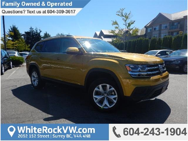 2018 Volkswagen Atlas 3.6 FSI Trendline (Stk: JA507756) in Surrey - Image 1 of 21