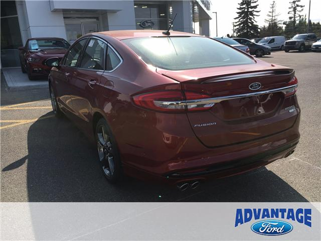 2018 Ford Fusion V6 Sport (Stk: J-003) in Calgary - Image 3 of 5