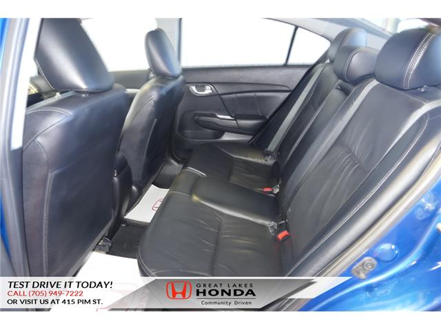 2015 Honda Civic Touring (Stk: HP460) in Sault Ste. Marie - Image 10 of 20