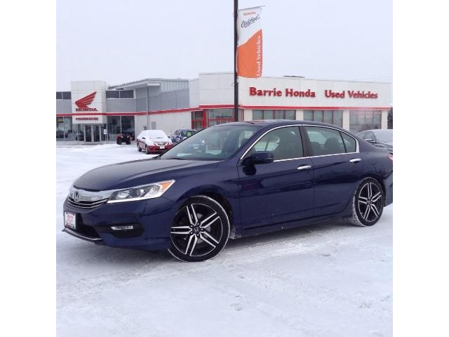 2016 Honda Accord Sport (Stk: U16216) in Barrie - Image 1 of 11