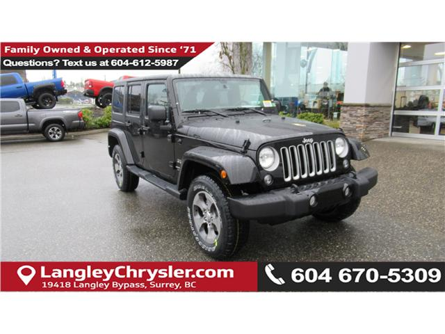2018 Jeep Wrangler JK Unlimited Sahara (Stk: J885358) in Surrey - Image 1 of 15