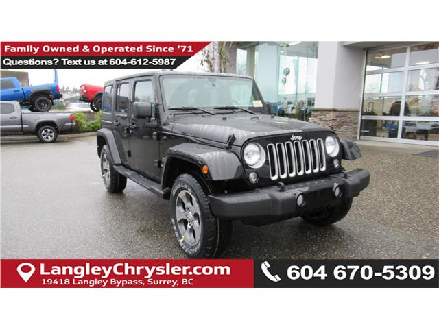 2018 Jeep Wrangler JK Unlimited Sahara (Stk: J885361) in Surrey - Image 1 of 13