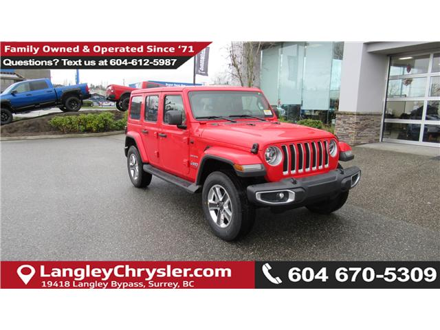 2018 Jeep Wrangler Unlimited Sahara (Stk: J104698) in Surrey - Image 1 of 14