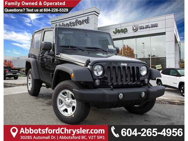 2018 Jeep Wrangler JK Sport (Stk: J846012) in Abbotsford - Image 1 of 26