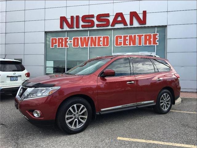 2015 Nissan Pathfinder SL, AWD, TECH PKG, PANORAMIC ROOF (Stk: M9091A) in Scarborough - Image 1 of 22