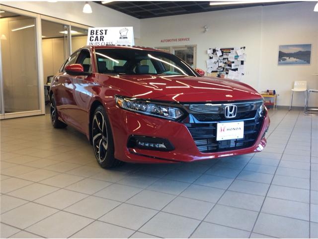 2018 Honda Accord Sport (Stk: H5667) in Sault Ste. Marie - Image 1 of 6