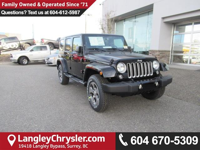 2018 Jeep Wrangler JK Unlimited Sahara (Stk: J864113) in Surrey - Image 1 of 16