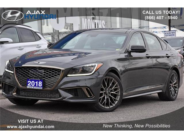 2018 Genesis G80 3.3T Sport (Stk: P4400) in Ajax - Image 1 of 21