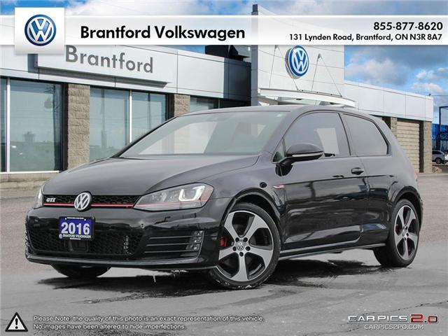 2016 Volkswagen Golf GTI 3-Door Autobahn (Stk: VC14674A) in Brantford - Image 1 of 27