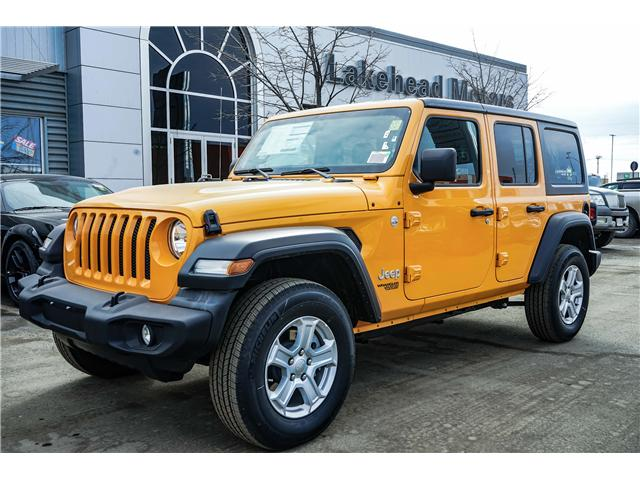 2018 Jeep Wrangler Unlimited Sport (Stk: 181447) in Thunder Bay - Image 1 of 9