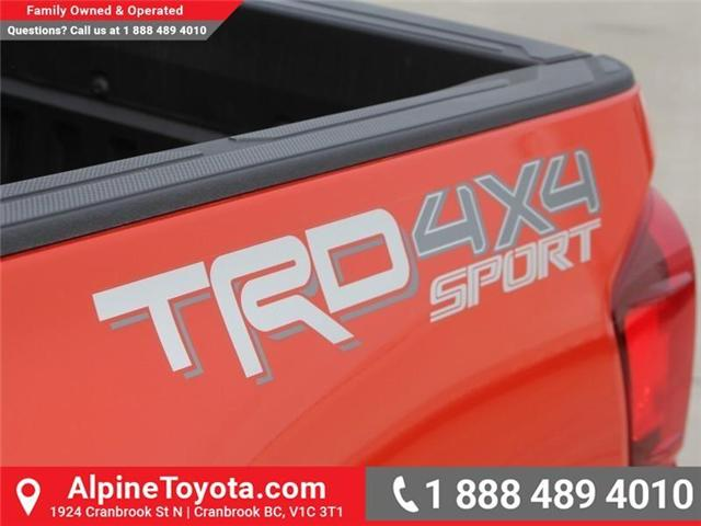 2018 Toyota Tacoma TRD Sport (Stk: X138101) in Cranbrook - Image 17 of 18