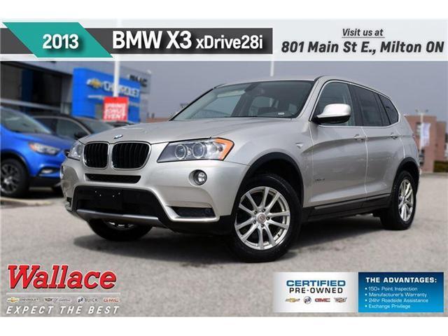2013 BMW X3 xDrive28i/AWD/SUNRF/LEATHR/PRK ASST/HTD SEATS (Stk: 102738b) in Milton - Image 1 of 23