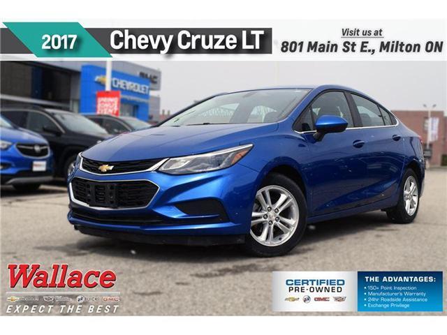 2017 Chevrolet Cruze LT/HEATD SEATS/REAR CAMRA/7 SCRN/CLEAN HSTRY (Stk: PR4651) in Milton - Image 1 of 21
