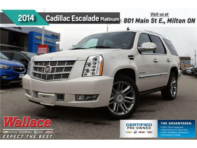 2014 Cadillac Escalade PLATIUM/DUAL DVD/NAV/AWD/22s/HTD & CLD SEATS (Stk: 227178A) in Milton - Image 1 of 21