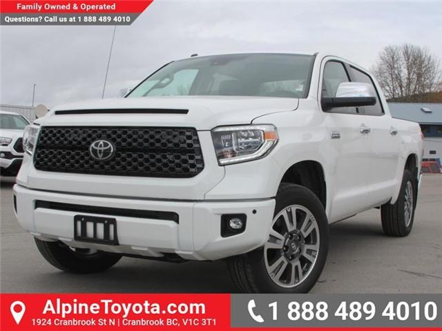 2018 Toyota Tundra  (Stk: X736270) in Cranbrook - Image 1 of 19