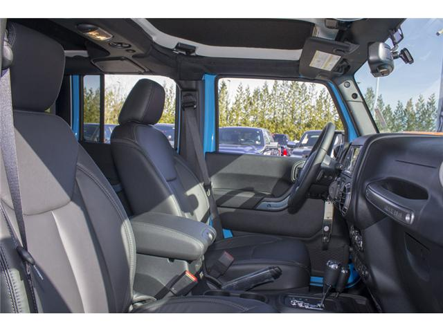 2018 Jeep Wrangler JK Unlimited Sahara (Stk: J801585) in Abbotsford - Image 17 of 23