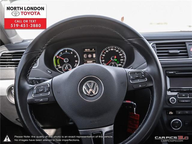 2013 Volkswagen Jetta Turbocharged Hybrid Trendline (Stk: AA218499) in London - Image 6 of 27
