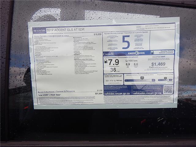 2017 Hyundai Accent GLS (Stk: 71774) in Saint John - Image 2 of 3